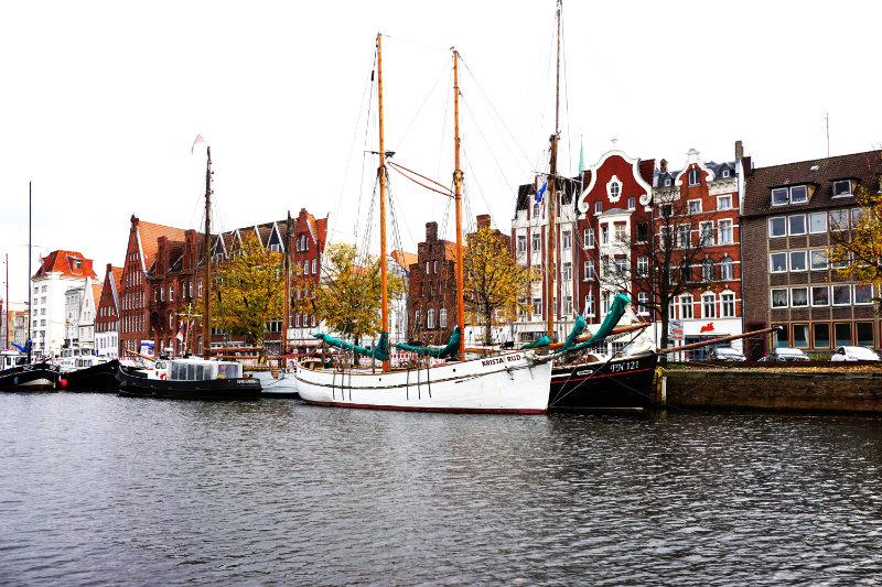 alte Schiffe in Lübeck