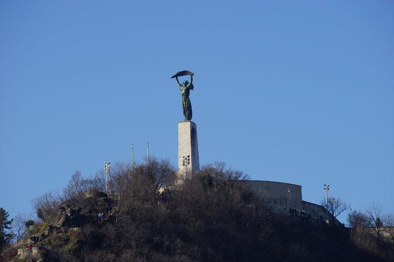 Straßenbahn in Budapest - Freiheitsstatue