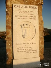 Sintra bate e volta de Lisboa - Placa do Cabo da Roca ao por do sol