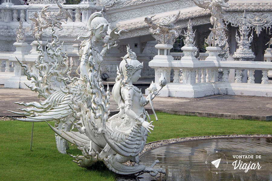 Templo Branco na Tailandia - Criaturas mitologicas