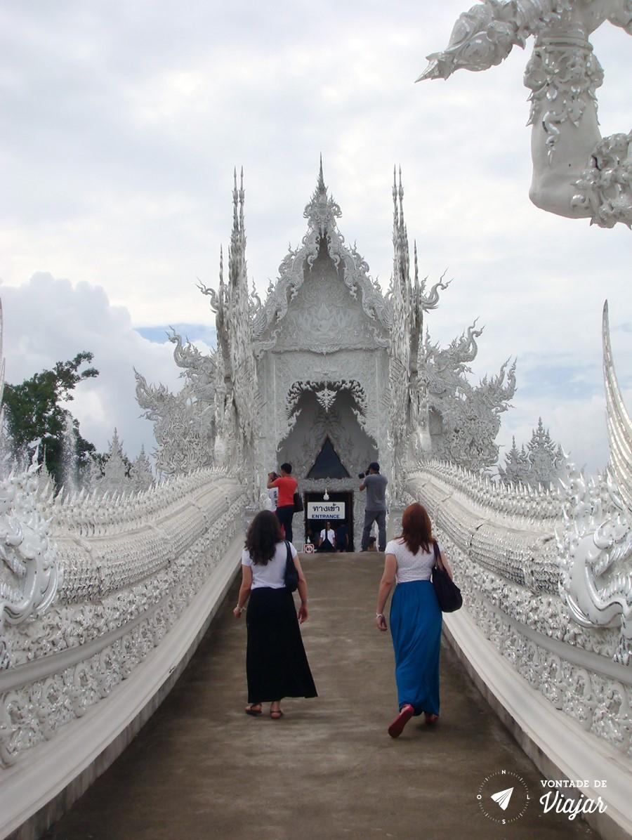 Templo Branco na Tailandia - Ponte