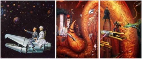 White Temple - Mural interior - Osama Bush Spiderman Matrix Transformes Avatar