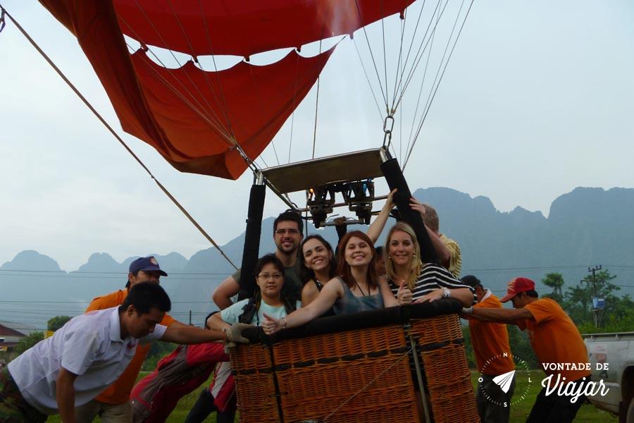 Viagem Sudeste Asiatico - Balao em Vang Vieng