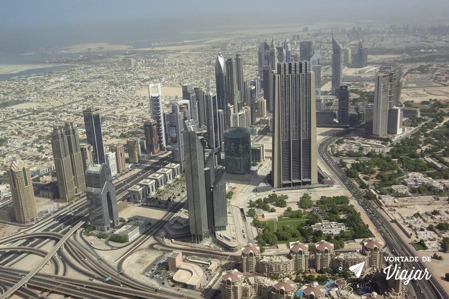 Dubai - Burj Al Khalifa - a vista do prédio mais alto do mundo (foto do blog Vontade de Viajar)