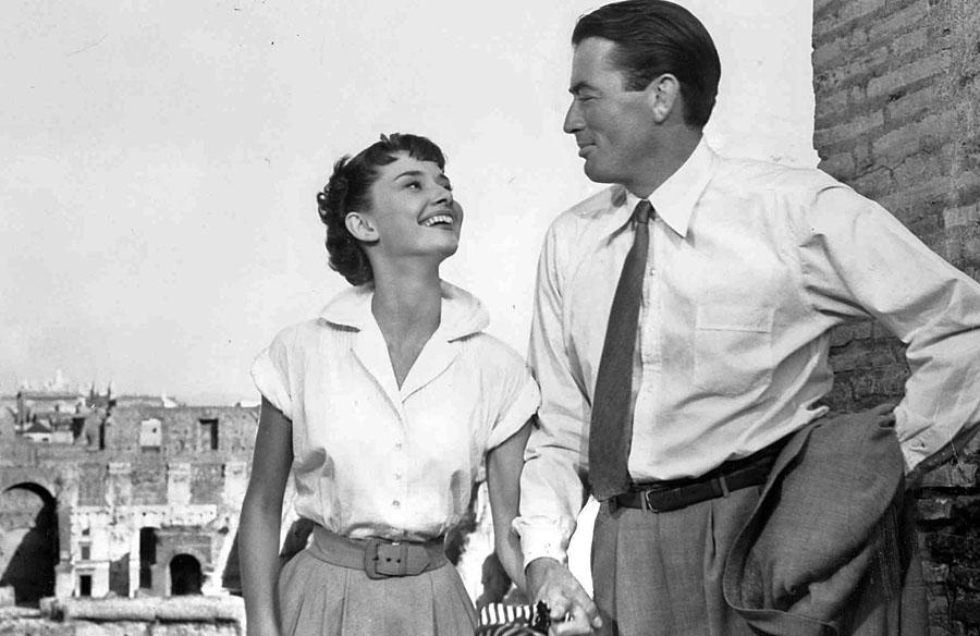 O que fazer em Roma - Audrey Hepburn e Gregory Peck