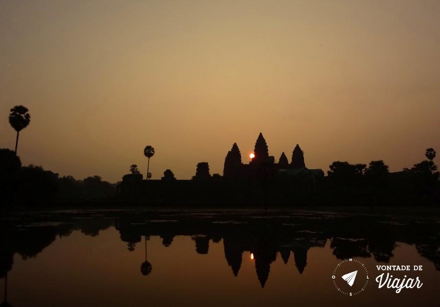 Angkor Wat - Nascer do sol em Angkor Wat no Camboja