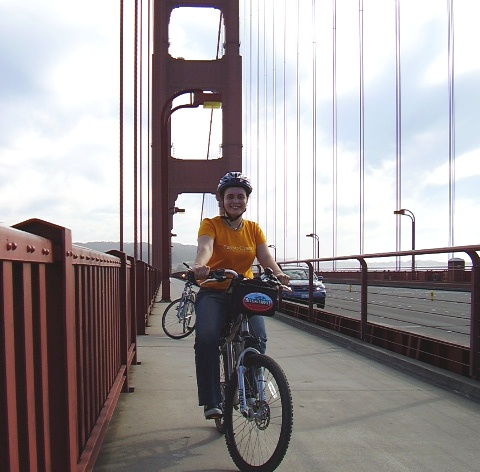San Francisco - de bicicleta na Golden Gate