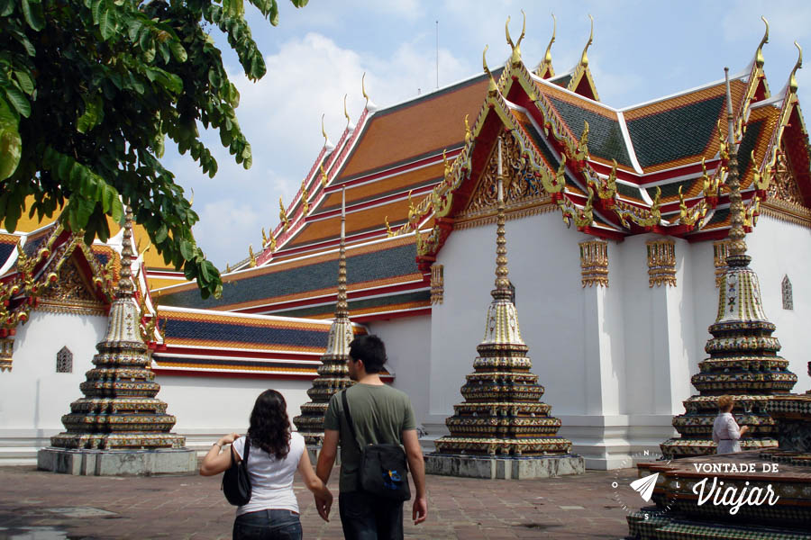 Sudeste Asiatico - Patio do Wat Pho em Bangkok Tailandia
