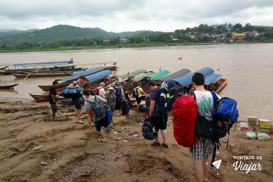 Sudeste Asiatico - Mochileiros no barco da Tailandia para o Laos
