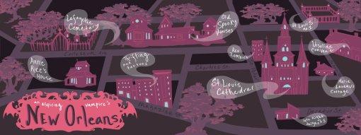 Mapa ilustrado - Nova Orleans by Jayne Steiger