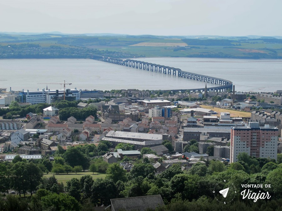 Dundee - Tay Bridge na Escocia - foto do blog Vontade de Viajar
