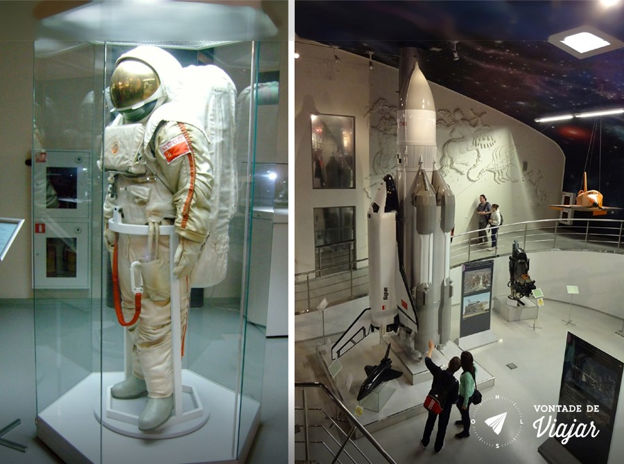 Museu da Cosmonautica - Roupa de astronauta e foguete