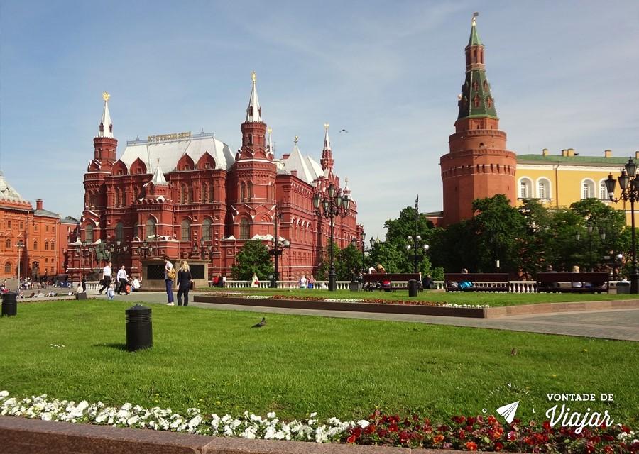 Dicas de fotografia de viagem - Jardins de Alexandrovski em Moscou na Russia