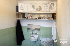 Alcatraz - Desenhos no banheiro do presidio - San Francisco