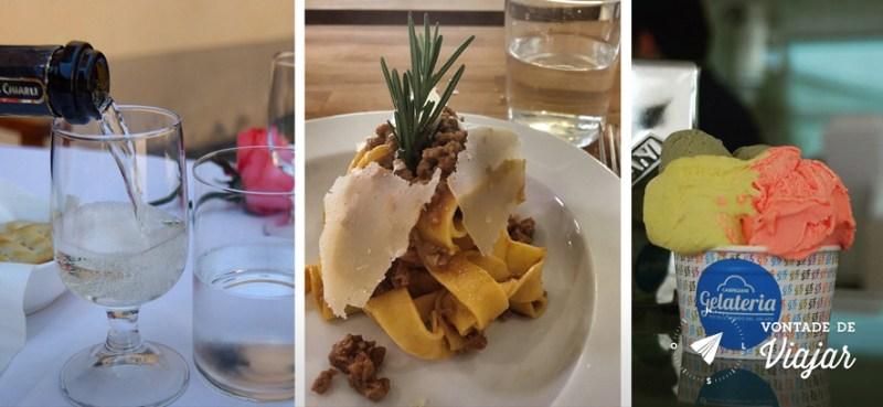 Bolonha - Viagem gastronomica com vinho massa e sorvete italiano