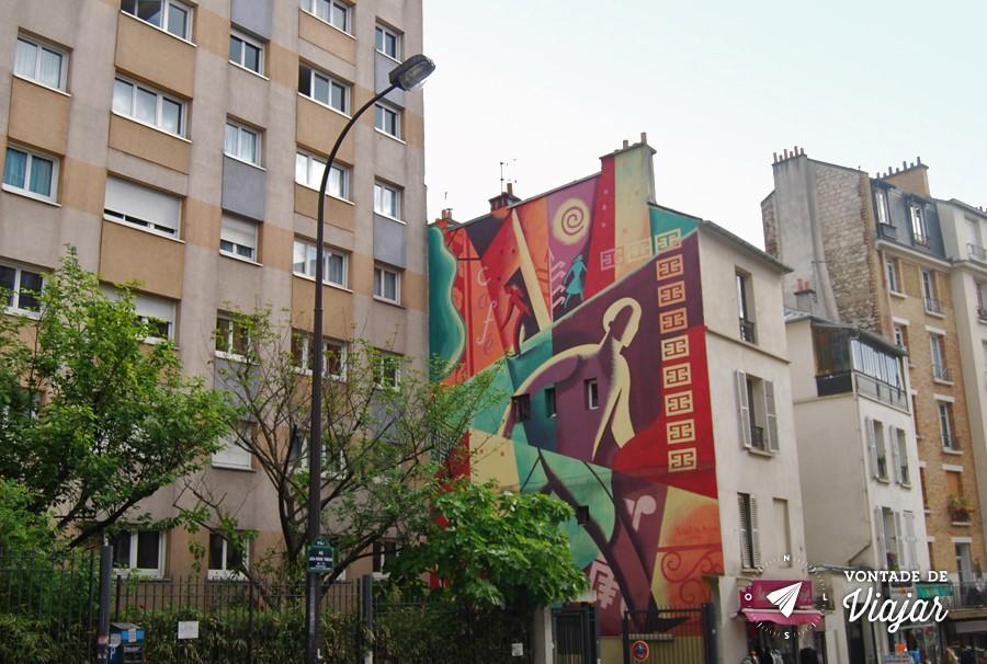Street Art em Paris - Mural de graffiti