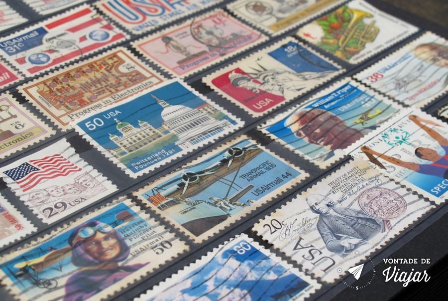 Colecao de selos - Selos dos EUA