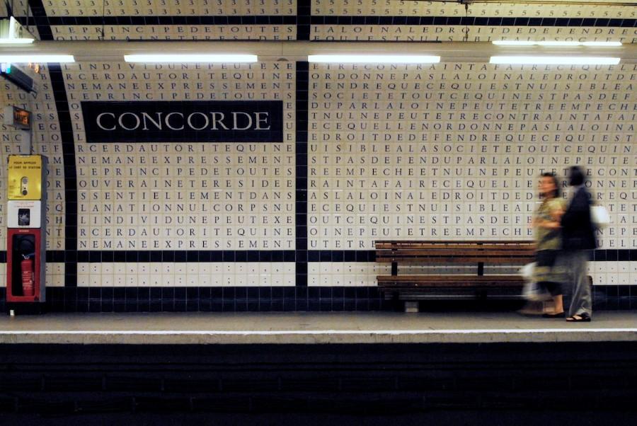 Metro de Paris - Estacao Concorde - foto de Chad Kainz