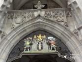 Leao de Munique - Leao da Baviera no patio do Rathaus