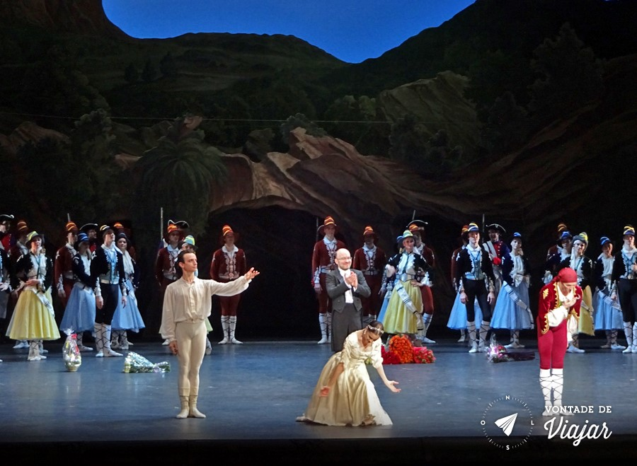 Russia Ballet Bolshoi - Ballet no Teatro Bolshoi em Moscou