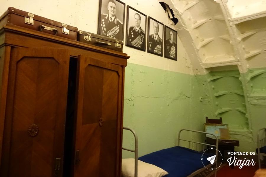 Bunker 42 Moscou - Dormitorio dos oficiais no abrigo antiaereo