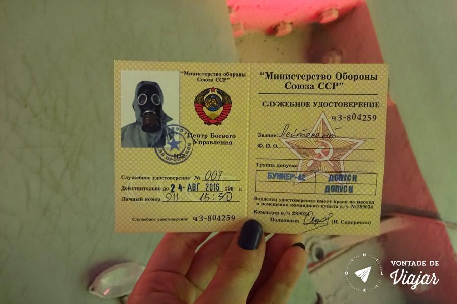 Moscou - Entrada no Bunker 42