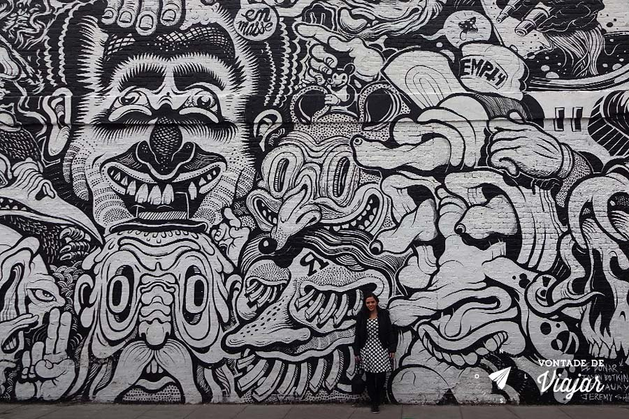 Street art Londres - graffiti em Shoreditch