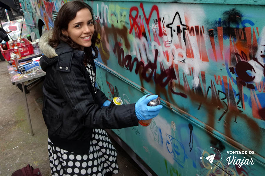 Street art Londres - workshop de graffiti em Shoreditch