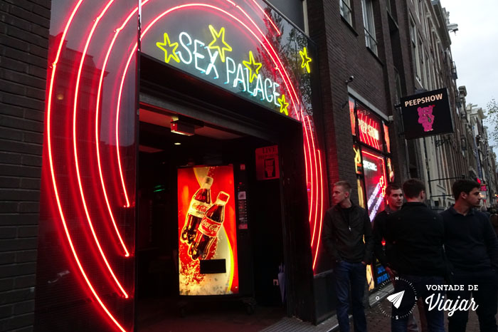 Amsterdam - Red Light District - Sex Palace peep show