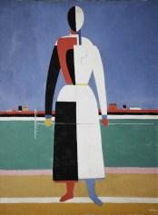 Museus em Moscou - Galeria Tretyakov - Mulher com ancinho - Malevich 1932