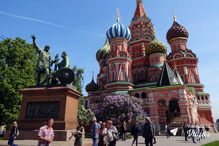 O que fazer em Moscou - Catedral de Sao Basilio Praca Vermelha
