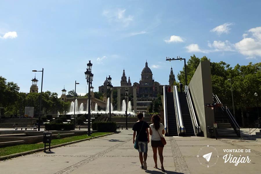 MNAC Barcelona - escada rolante Avenida de la Reina Maria Cristina