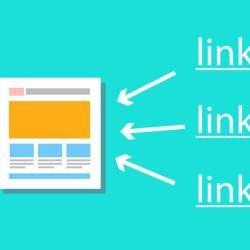 """Ilustração de uma página da internet com 3 setas apontando para ela e na outra ponta das setas a palavra """"link"""""""