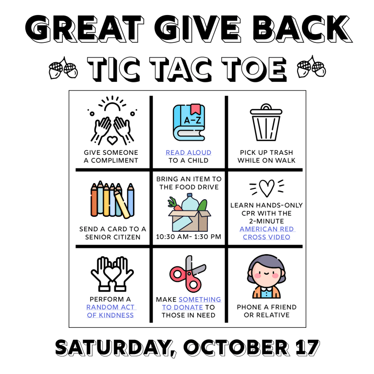 Great Give Back. October 17, 2020