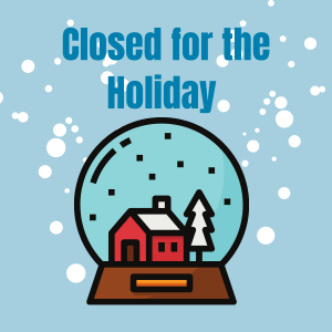 Closed for the Holiday.12.2020