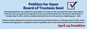 Petition for Open Board of Trustees Seat