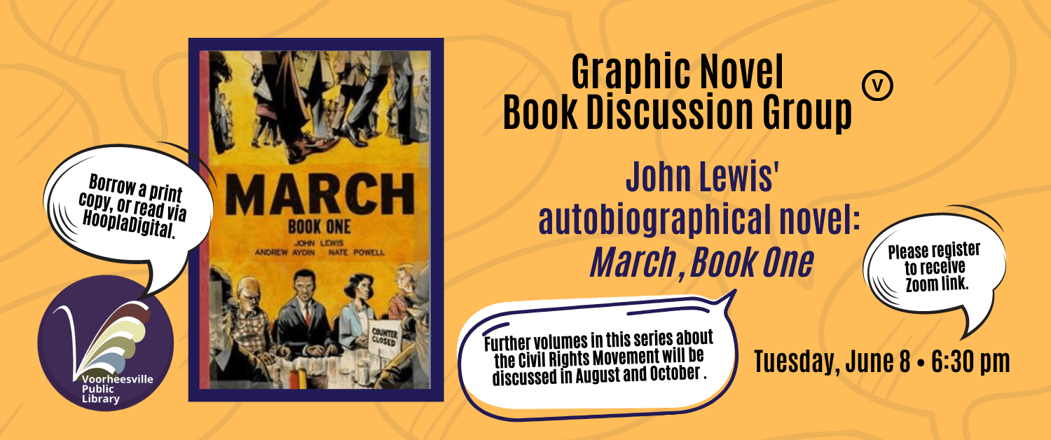 Adult Graphic Novels Book Discussion. June, August and October.