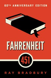 Fahrenheit 451 Book Cover. Book with pages that look like matches.