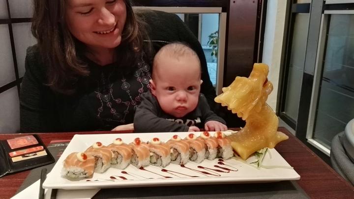uit eten met baby