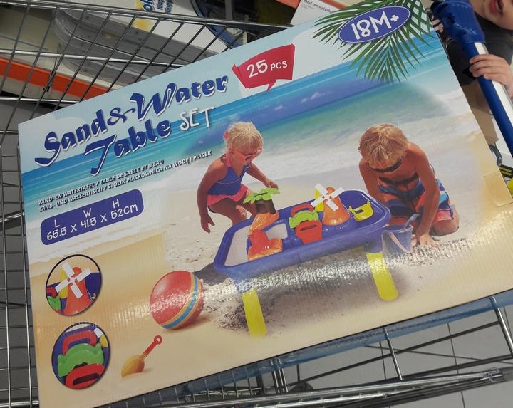 Zand Water Tafel : Review de nieuwe zand en watertafel van action