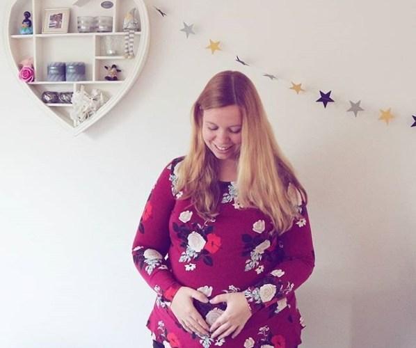 8 maanden zwanger