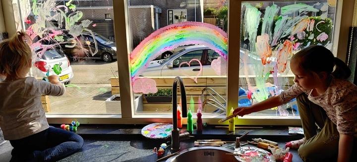 schilderen op ramen