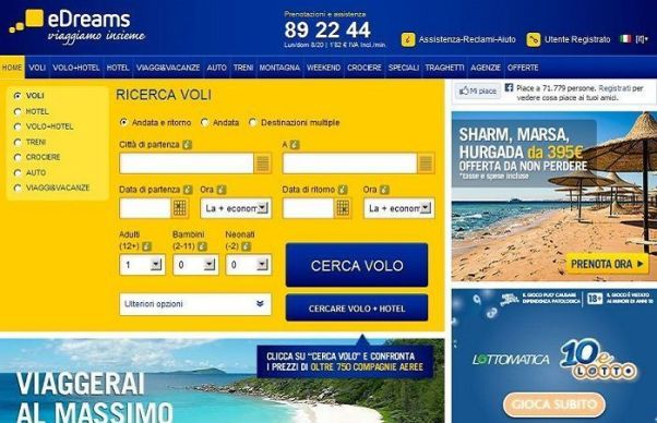 sconto edreams