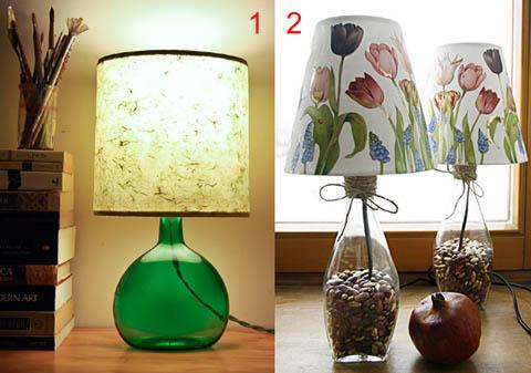 لامپ میز بطری