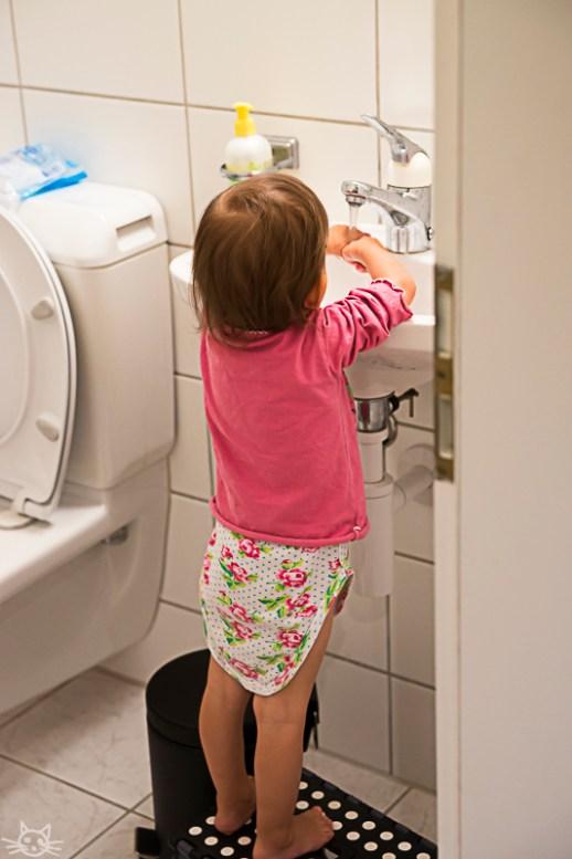 Wer aufs Töpfchen geht muss danach auch Hände waschen.