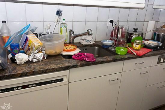 Und die Küche braucht auch eine Aufräumaktion