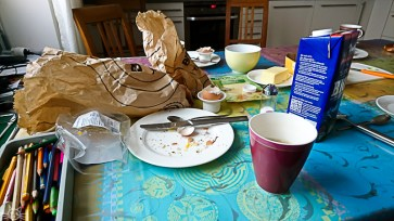 Nachdem mir erst nach dem Frühstück einfällt, dass heute der 12. ist bekommt ihr nur den letzten Tee und die Reste zu sehen.