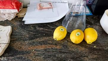 Zuhause warten Zitronen auf mich