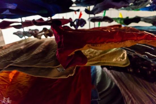 Der Abend endet mit meiner Neverending Story Wäsche. - ist ja klar bei Betten frisch beziehen.