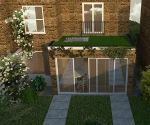 0139 Rear extension with green roof near Camden Square